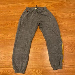 MEN'S 5 STRIPE SWEATPANTS - HEATHER GREY